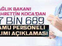 Koca'dan 17 Bin 689 Sağlık Personeli Alımı Açıklaması