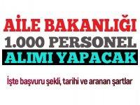 Çalışma ve Sosyal Hizmetler Bakanlığı 1.000 Sözleşmeli Personel alacak