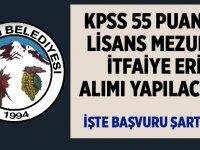 KPSS 55 Puanla İtfaiye Eri Alınıyor