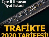 Trafikte 2020 yeni yıl tarifesi! Trafik sigortası 2020 İL İL ne kadar olacak?