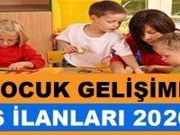 Çocuk Gelişimi iş ilanları 2020
