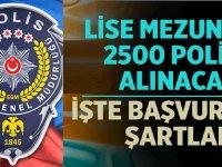 PMYO 2020 yılı lise mezunu 2500 polis alımı başvuru şartları