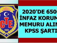 Adalet Bakanlığı CTE 6500 İnfaz Koruma Memuru - Gardiyan Alımı Yapacak