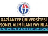 Gaziantep Üniversitesi 69 Personel Alıyor!