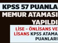 KPSS 2019/2 bazı kamu kurum ve kuruluşlarının kadro ve pozisyonlarına yerleştirme sonuçları