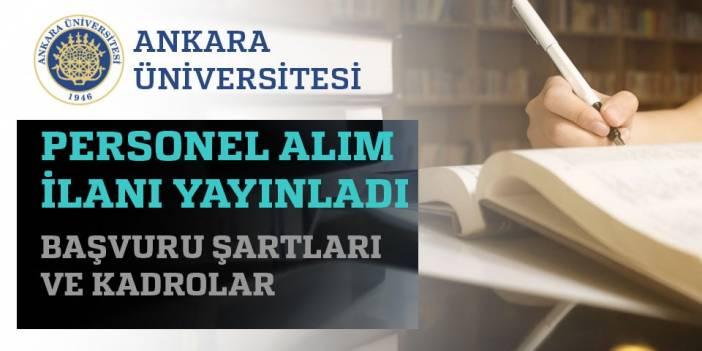 Ankara Üniversitesi 2020 Akademik Personel Alımları