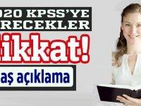 2020 KPSS'ye girecekler öğretmen adayları dikkat