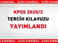 Flaş! KPSS 2020/3 tercih kılavuzu yayımlandı
