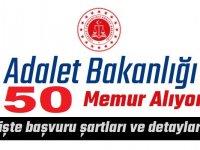 Adalet Bakanlığı 8 Bin TL maaşlı 50 Devlet Memuru Alımı Başvuruları Başlıyor.