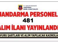 Jandarma Genel Komutanlığı 481 Personel Alımı Başvuruları Devam Ediyor