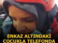 Azize'yle telefonda konuştu