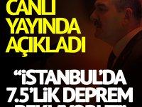 Soylu canlı yayında açıkladı: İstanbul'da 7.5'lik deprem bekliyoruz
