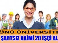 KPSS Şartsız Daimi Sürekli 20 İşçi Alımı Yapılacaktır