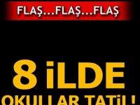 10 Şubat Okulların Tatil olduğu şehirler