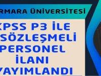 Marmara Üniversitesi Kamu Personel Alımları 2020