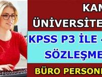KPSS P3 ile 4B sözleşmeli büro personeli iş ilanları 2020