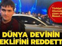 Türkiye'nin Otomobili'ni çizen otizmli Mesut dünya