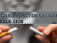 Sigara Kullanmayan İşçi Yarım Saat Erken işten Çıkacak