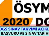 2020 DGS Sınav Takvimi