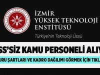 İzmir Yüksek Teknoloji Üniversitesi Personel İlanları 2020