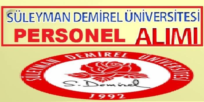Demirel Üniversitesi sözleşmeli daimi sürekli 5 personel alacak