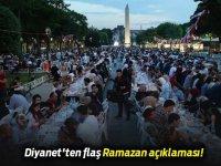 Diyanet'ten son dakika Ramazan ayı açıklaması! 14 Nisan 2020