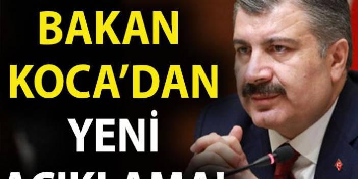Sağlık Bakanı Koca'dan sokağa çıkma yasağı açıklaması!