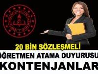 20 bin sözleşmeli öğretmen atama duyurusunu yayımladı