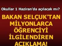 Milli Eğitim Bakanı Ziya Selçuk canlı yayında açıkladı