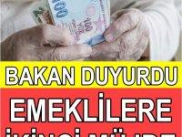 Emeklilere ikinci müjde