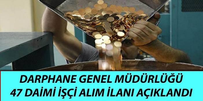Merkez Bankası Darphane 47 Daimi işçi ve Memur Alıyor