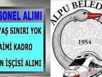 Alpu Belediye Başkanlığı tarafından İŞKUR'da yayımlanan iş ilan