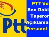 PTT'den Son Dakika Taşeron Açıklaması ve Personel Alımı