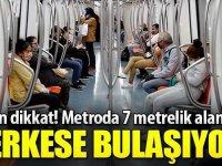 Metroda otururken 7 metreye dikkat