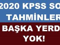 2020 KPSS Soru Tahminleri  ÖZEL HABER