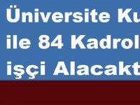 Gaziantep Üniversitesi Kura ile 84 Kadrolu işçi Alacaktır. işte ilan metni