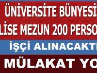 Sivas Cumhuriyet Üniversitesi İŞKUR Üzerinden 200 Daimi işçi Alacaktır