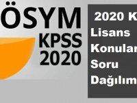 2020 KPSS Lisans Konuları ve Soru Dağılımı