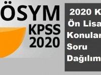 2020 KPSS Önlisans Soru Dağılımı ve Konu Dağılımı Nedir?