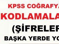 KPSS Coğrafya Kısa kodlamalar (Şifrelemeler)