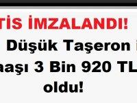 TİS imzalandı! En Düşük Taşeron işçi Maaşı 3 Bin 920 TL oldu!