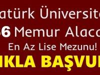 Atatürk Üniversitesi sözleşmeli 466 sağlık personeli alımı kılavuzu değiştirildi
