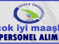 Düzce Üniversitesi Sözleşmeli Kamu Personeli Alımı