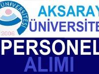 Aksaray Üniversitesi Daimi Sürekli iş ilanları 2020