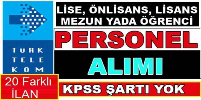 Türk Telekom 26 Sözleşmeli Kamu Personel Alımı