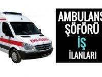 Ambulans Şoförü Alımı 2017