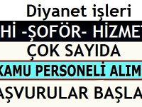 DİB İstanbul Müftülülğü Naklen VKHİ, Şöför ve Hizmetli Alımı