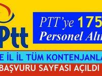 PTT BİN 750 MEMUR ALIM İLANI BAŞVURU SAYFASI