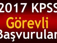2017 KPSS Görevli Başvuruları