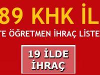 689 sayılı KHK'da MEB'den 28 öğretmen ve 1 maarif müfettişi ihraç edildi